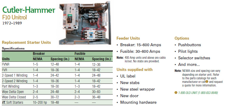 Eaton 39 s motor control center aftermarket solutions for Cutler hammer freedom 2100 motor control center