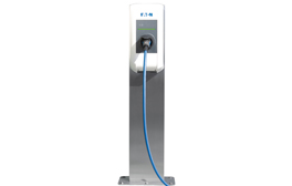 This is the Eaton electric vehicle charging solution, which is used as stand-alone in  private homes or bigger applications like electric vehicle fleets. Together with the xChargeIn-Peak-Control-Package it offers an efficient energy management solution.